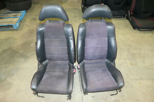 Jdm 1997 2001 Honda Prelude Bb6 Bb7 Bb8 Oem Front Leather Seats Red Stitched