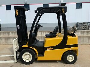 2007 Yale Glp050vxeuse090 Fork Forklift Hilo Pneumatic Lifttruck Lift Hyster