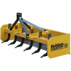 6 Heavy Duty Box Blade Tractor Attachment 6 Shank Category 1
