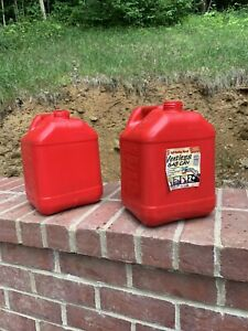Two Large Classic Blitz 2 Gallon 8 Ounce Gas Cans no Spouts