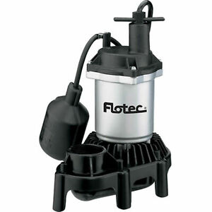 Flotec Submersible Thermoplastic Sump Pump 1 3 Hp Tethered Switch Fpzs33t
