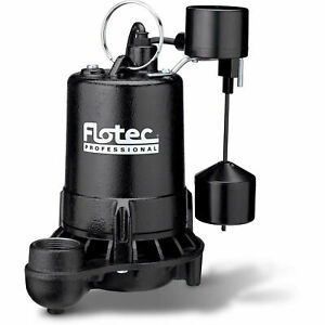 Flotec Professional Series 1 2 Hp Submersible Cast Iron Effluent Pump Vertical
