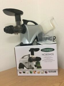 OMEGA NC800 HDS Slow Speed Masticating Juicer Extractor & Nutrition Center