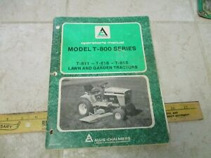 Vtg Allis Chalmers Garden Tractor Operators Manual Guide T 800 811 818 816