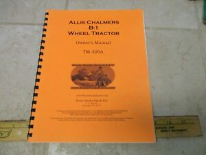 Vtg Allis Chalmers Garden Tractor Operators Manual Guide Tm 300a Reprint B 1
