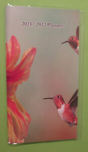 2021 2022 Monthly Hummingbird 6 5x3 75 Pocket Purse 2 year Planner Contacts