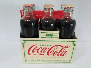Coca-Cola 6 Pack Limited Edition Replica 1899 Glass Bottles Unopened W/Carrier