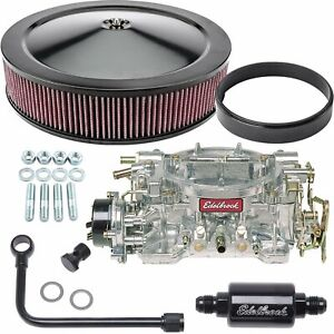 Edelbrock 1406k2 Performer Carburetor Kit Electric Choke Includes 600 Cfm Perfo