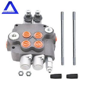 Hydraulic Control Valve Double Acting 21 Gpm 3600 Psi Sae Ports 2 Spool