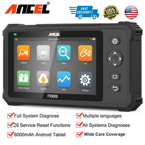Ancel Fx9000 Auto Obd2 Scanner Full System Car Diagnostic Scanpad Tool Tpms Abs