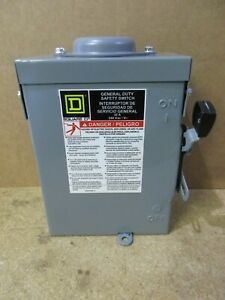 Square D D221nrb Rainproof Fused Safety Switch Disconnect 30 Amps 2p 240v v501