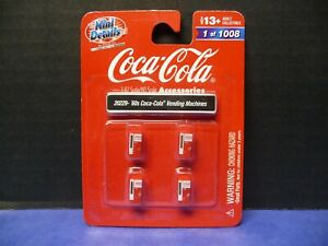 1960's Era Coca-Cola Vending Machines (4) 1:87 HO Scale by Classic Metal Works