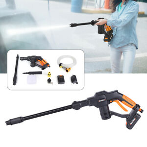 Cordless High Pressure Car Power Washer Spray Gun Lance Nozzle Tips Hose
