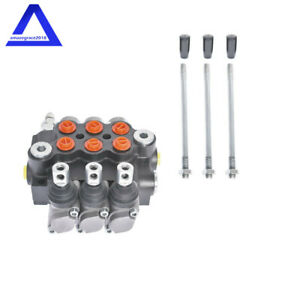 3 Spool Hydraulic Directional Control Valve 11gpm Double Acting Adjustable