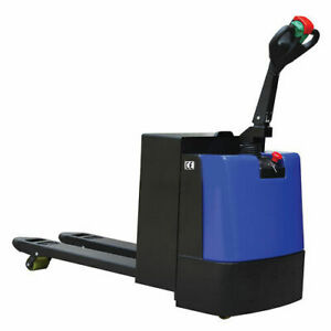 Wesco 174 Self propelled Electric Pallet Truck 4400 Lb 27 w Forks