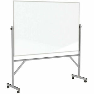Ghent 174 Mobile Reversible Double Sided Acrylite Whiteboard Aluminum Frame