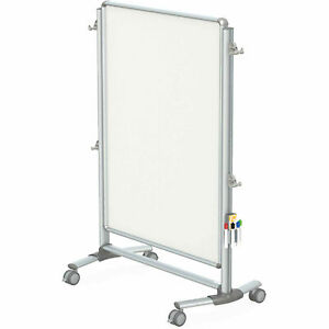 Ghent 174 Nexus Jr Partition 2 sided Mobile Magnetic Whiteboard Silver Frame