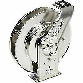 Stainless Steel Reel Ss Air water Without Hose 1 2 X 50 Capacity 500 Psi
