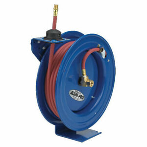 Spring Rewind Reel For Air water No Hose 3 8 I d 50 Capacity 300 Psi