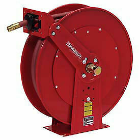 Dual Pedestal Reel Air water With Hose 3 4 X 50ft 250 Psi