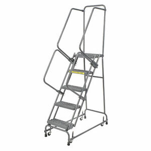 Ballymore Fsh526g Grip 24 w 5 Step Steel Rolling Ladder 14 d Top Step