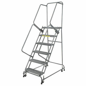 Ballymore Fsh618g Grip 16 w 6 Step Steel Rolling Ladder 14 d Top Step