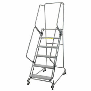 Ballymore Fsh626p Perforated 24 w 6 Step Steel Rolling Ladder 14 d Top Step