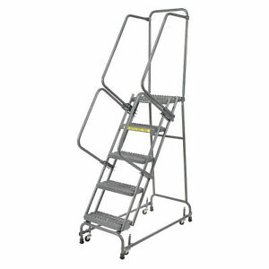 Ballymore Fsh518g Grip 16 w 5 Step Steel Rolling Ladder 14 d Top Step