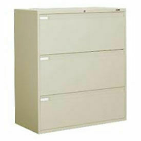 Global 42 w 3 Drawer Binder Lateral File Putty 9342p3f 1h dpt