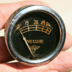 Stewart Warner Vintage Wings 80 Lbs Oil Pressure Gauge