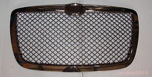 2005 2010 Chrysler 300 300c Front Grill Hood Grille Chrome Smoke Bentley Style