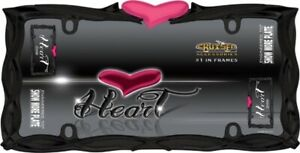 Black Frame With Pink Heart License Plate Frame Ca22456