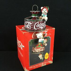 VTG 1993 Coca Cola Enesco Ornament Light Up your Holiday With Coke 583758