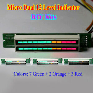 Dual 12 Stereo Level Audio Indicator Led Vu Meter Lamps Light Analyzer Display