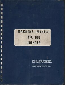 Oliver 166 Jointer Machine Manual Pdf