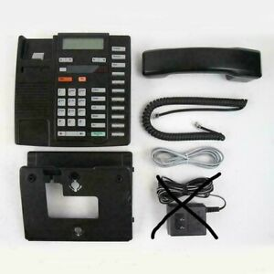 Nortel M9316cw Analog Phone W Lit Pack But No Power Black Warranty Refurbished
