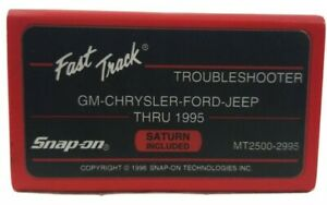 Snap On Fast Track Troubleshooter Cartridge Mt2500 2995 Gm Chrysler Ford To 1995