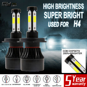 Mylight 4 sides H4 9003 250000lm 1600w Led Headlight Kit Hi lo Beam Bulbs 6000k