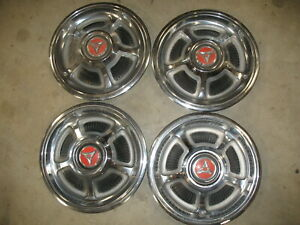 1968 69 Dodge Rally Style Mag Wheel Hubcaps Hub Caps Set Of 4 Real Clean