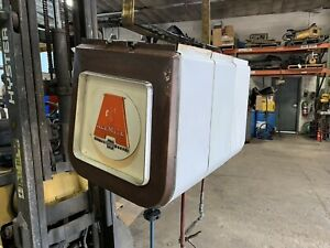 Alemite Heavy Duty Hose Reel 3 Bank Overhead Covered Grease Oil Air Vintage
