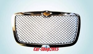 2005 2010 Chrysler 300 300c Front Grill Hood Grille All Chrome Bentley Style