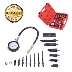Diesel Engine Compression Tester Gauge Kit Cylinder Pressure Leakage Test Tool