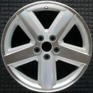 Dodge Avenger Machined W Silver Pockets 18 Inch Oem Wheel 2008 To 2010
