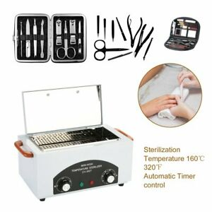 High Temperature Uv Dry Heat Sterilizer Cabinet Manicure Pedicure Nail Tool