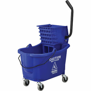 Mop Bucket And Wringer Combo With Side Press Blue