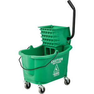 Mop Bucket And Wringer Combo With Side Press Green