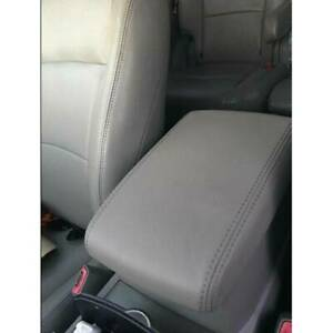 For 2008 2013 Toyota Highlander Leather Center Console Lid Armrest Cover Gray