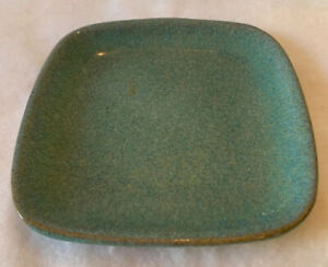 Glidden Art Pottery Turquoise 5 1 2quot; Canape Plate Number 35 Fong Chow Era