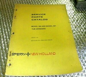 5 84 Sperry New Holland Service Parts Catalog 390 391 Tub Grinders