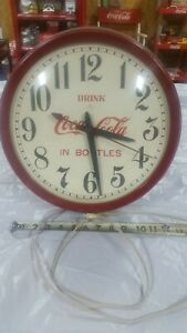 ORIG. GILBERT COCA COLA CLOCK (DRINK COCA COLA IN BOTTLES) MADE IN WINSTED CONN
